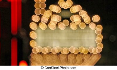 Out of focus bokeh theater lights - High definition movie of...
