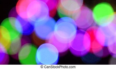 Out of focus colorful lights in the