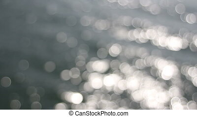 Out of Focus Silvery Bokeh of Water