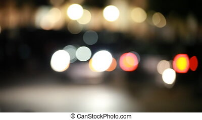 Out of Focus Traffic - The out of focus lights from passing...