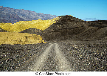 Out of Mustard Canyon in Death Valley - Road out of Mustard ...