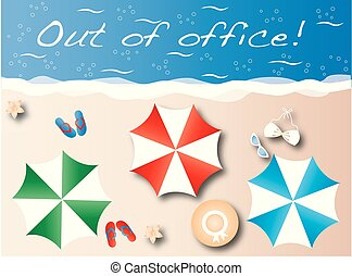 out of office summer header beach vacation
