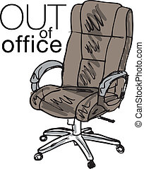 Out of office. Vector illustration