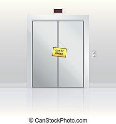 Out Of Order Elevator Door