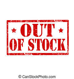 Out Of Stock-stamp