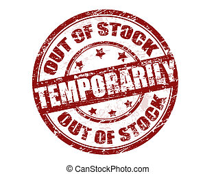 Out of stock temporarily stamp