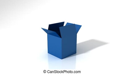 Out of the Box Solution - Blue business related words...