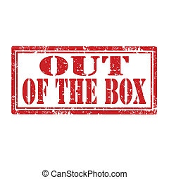 Grunge rubber stamp with text Out of the Box, vector illustration