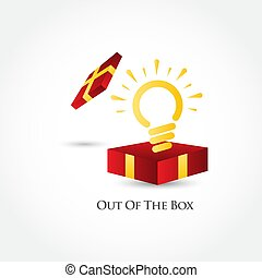 Out Of The Box Vector Template Design Illustration