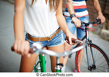 Out on bicycles