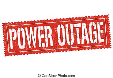 outage, estampilla, grunge, potencia, caucho