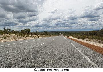 outback, austrália, rodovia