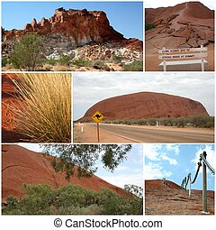 Outback Montage - A montage of images from the dry Outback...