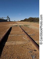 Outback railway track Australia