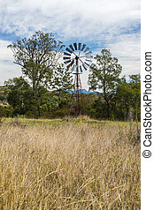 Outback windmill in Queensland