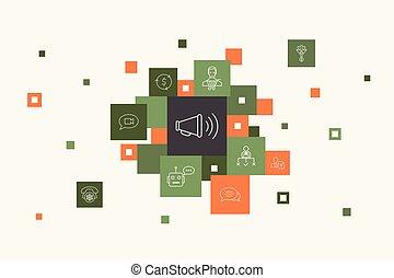 outbound marketing Infographic 10 steps pixel design. ...