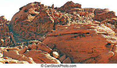 Outcropping of rock in the Valley of Fire in southwest...