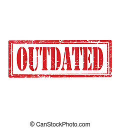 Grunge rubber stamp with word Outdated, vector illustration