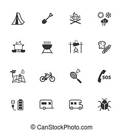 Outdoor activity and Camping icons