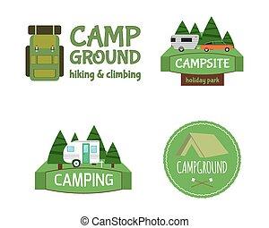 Outdoor Activity Tourism Travel Logo Vintage Labels design...
