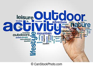 Outdoor activity word cloud
