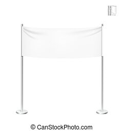 Outdoor advertising banners shield mockup