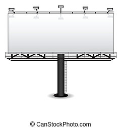 Outdoor advertising billboard isolated on white
