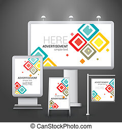 Outdoor advertising design - Abstract outdoor commercial...