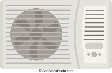 Outdoor air conditioner fan icon, flat style