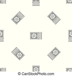 Outdoor air conditioner fan pattern seamless vector