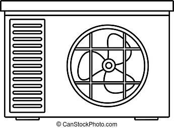 Outdoor air unit conditioner icon, outline style
