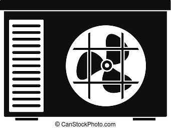 Outdoor air unit conditioner icon, simple style