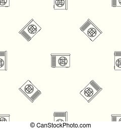 Outdoor air unit conditioner pattern seamless vector