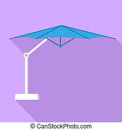 Outdoor awning icon, flat style