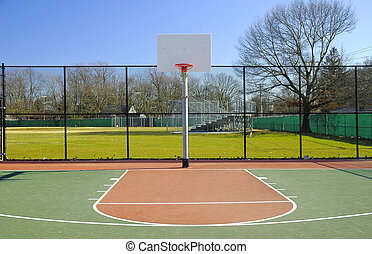 Basketball Court - Outdoor Basketball Court