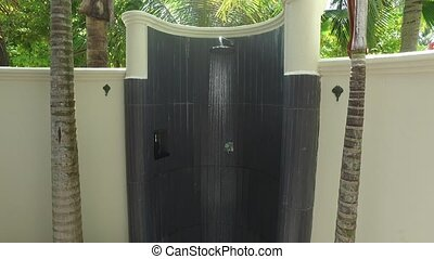 outdoor beach shower with fresh water - travel, tourism,...