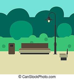 outdoor berendezés, és, világítás