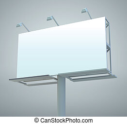 Outdoor billboard - Outdoor blank billboard. Vector...
