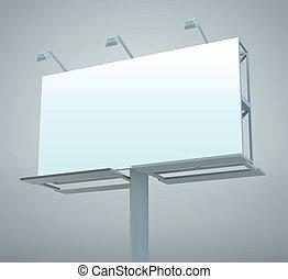 Outdoor billboard - Outdoor blank billboard. Vector...