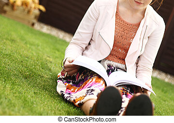 Outdoor book reading