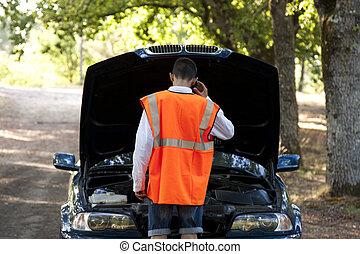 outdoor broken down car