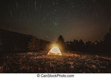 Camping adventure.