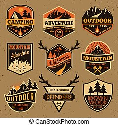 Outdoor camping badge