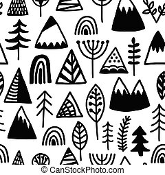 Outdoor camping seamless pattern. Use background, wallpaper...