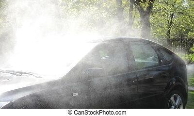 outdoor car washing
