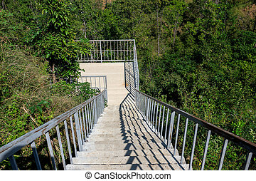 Outdoor cement staircase section