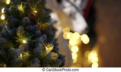 Outdoor Christmas New Year decoration Christmas tree ...