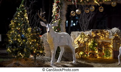 Outdoor Christmas New Year photography spot decoration on ...
