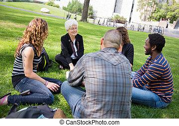 Outdoor Class at University