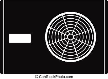 Outdoor compressor of air conditioner icon